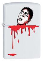 Zippo Custom Lighter Beheaded Regular White Matte Pocket New in Box Great Gift