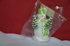 Patricia Breen 2009 (Sweet Snowman) Snowman Holding 2 Christmas Trees.N.I.P.Mint