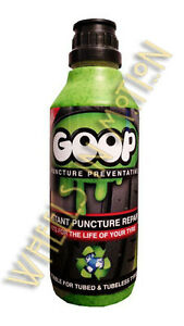 Goop Tyre Puncture Proof Sealant Puncture Preventer / 500ml Bottle / Made in UK