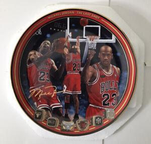 """Michael Jordan """"THE LAST SHOT"""" Upper Deck Br Exchange Collector Plate w/ COA NEW"""