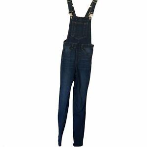 H&M Blue Denim Overalls Size 6 Pockets Side zip Adjustable Straps