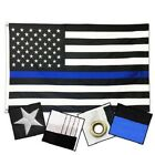 2X3 Blue Line American Flag Embroidered & Sewn Back the Blue