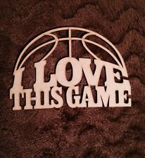 I Love This Game Wooden Mdf Plaque 3 Mm Thick Blank
