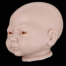 "Lifelike 20"" Reborn Doll Accs Silicone Head Mold Awake Baby Doll Kit DIY #4"