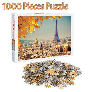 1000 Pieces Jigsaw Puzzles Eiffel Tower Paris Adult Kids Educational Puzzle