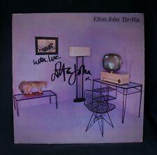 ELTON JOHN • Autographed THE FOX Album~Near Mint~Rocket Man~Bernie Taupin