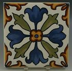 """DERUTA CERAMIC WALL TILE (s) 4.1/4"""" x 4.1/4""""' HAND PAINTED ITALY VINTAGE #1"""