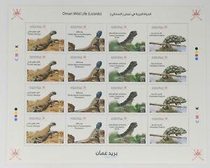 Oman Stamps - FULL Sheet Oman - Wild Life ( Lizards) - 2021