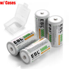 4x C Size 5000mAh Rechargeable Batteries 1.2V NIMH R14 High Capacity 4PCS C Cell