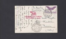 Daw Switzerland Zeppelin Roma Flight Postcard Lot 8