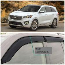 Wide Window Visors Rain Sun Guard Vent Deflectors For Kia Sorento (UM) 2014-2018