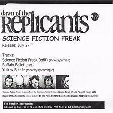 Science Fiction Freak [Single] by Dawn of the Replicants (Cd 1999) [3 trk] Promo