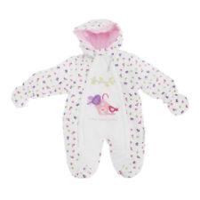 Abrigos y trajes de nieve abrigo blanco para niñas de 0 a 24 meses