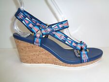 Teva Size 8 M ARRABELLE UNIVERSAL Mosaic Navy Wedge Sandals New Womens Shoes