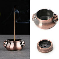 Vintage Copper Mini Lion Ear Incense Coil Burner Censer Aromatherapy Pot