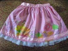 Disney Princess Belle (Beauty & Beast) girls pink lined skirt tulle sz 12 cotton