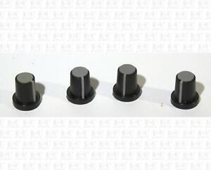 Black and Gray Mixer Style Knurled Shaft Guitar Amp Knobs Lot Of 4