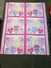 "Vintage Barbie Girl Crib blanket/quilt 41"" X 51"""