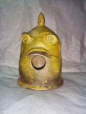 Peter Rose Folk Studio Pottery Whimsical Face Bird Feeder