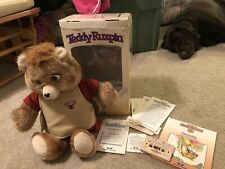 Vintage Teddy Ruxpin 1985 Worlds Of Wonder Talking Bear With Box Tapes Book Euc