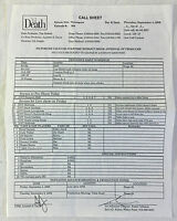 2008 Fox tv show 'TIL DEATH set used CALL SHEET~Season 3, Episode 3