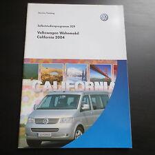 VW SSP Nr. 329 Selbststudienprogramm Wohnmobil California ab 2004 T5 Bus