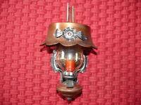 Dekorative Wandlampe im Petroleumlampen Stil Schmiedeeisen mit Kupfer verziert