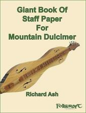 Giant Book Of Staff Paper For Mountain Dulcimer