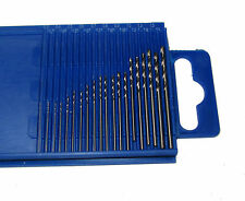 RDG 20PC MINI DRILL SET 61-80 MICRO NUMBER DRILLS JEWELLERY MODEL MAKING TOOLS