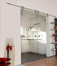 Soft Stop Doppel Glasschiebetür Glas Schiebetü Klarglas 2x900x2175mm C900A-2-DPL