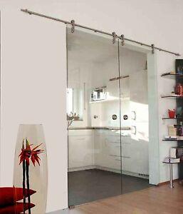 Soft Stop Doppel Glasschiebetür Glas Schiebetür Glastür 2x775x2050mm C775A-DPL