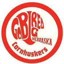 "Nebraska Cornhuskers  ""Go Big Red""  1950's  Vintage-Looking  Souvenir    Sticker"