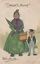 POSTCARD  COMIC  CHARLIE'S  AUNT   Dudley  Hardy
