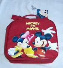 Mickey Minnie Insulated Cooler Lunch bag with Water Bottle Perfect for School