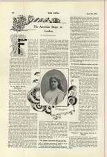 1900 portrait Stephanus Paul Kruger Mlle Susan forte chanteuse américaine à Londres