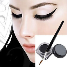 Black Beauty Cosmetic Waterproof Eye Liner Eyeliner Shadow Gel Makeup+Brush TDCA