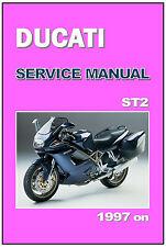 DUCATI Workshop Manual ST2 1997 1998 1999 2000 2001 Maintenance Service Repair