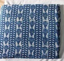 3 yard dabu Blue Indigo Dye hand Block print Cotton fabric Blue Print Fabric