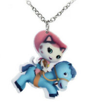 HORSE & WESTERN HELLO KITTY GIRLS KIDS CHILDRENS HORSE RIDING NECKLACE
