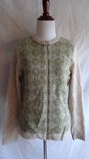 Woolrich 100% Lambswool Full Zip Sweater Fair Isle Nordic Icelandic Knit Medium