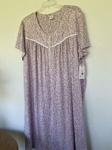 Women's Plus Sweet Treasures Pink Print Long Nightgown Sz 4X (26-28) NWT