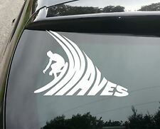 Large Waves SURF Funny Car/Window JDM VW EURO Vinyl Decal Sticker