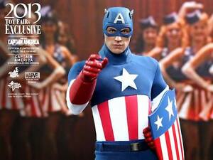 Hot Toys Captain America Star Spangled Man Sideshow Exclusive MMS205 New/Sealed!