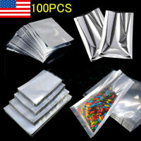 100pc Heat Seal Aluminium Foil Bags Vacuum Sealer Pouches Storage Bag Food Grade