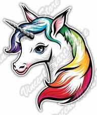 "Cute Unicorn White Horse Horn Animal Car Bumper Window Vinyl Sticker Decal 4""X5"""