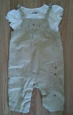 NWOT Adorable Girl's Size 3/6 M Month Suspender Outfit - First Moments + GUC Top