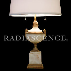 FRENCH NEO CLASSIC MODERN MUTUAL SUNSET LIGHTING MARBLE BRONZE TABLE lamp 1920s