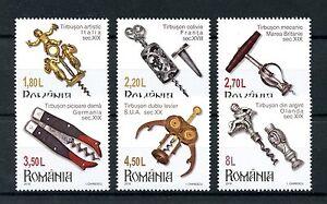 Romania 2016 MNH Corkscrews Romanian Collections 6v Set Antiques Stamps