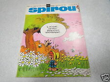 SPIROU MAGAZINE N° 1632 24 07 1969 + SUPPLEMENT MINI RECIT vient d une reliure *