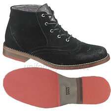 Wolverine Boots Mens Paxton Red Sole Chukka Boot Waxy Suede W00312 Black Shoes